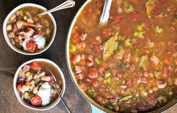 BEST Great Northern Bean Ham Soup Recipe