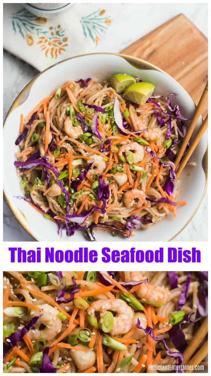 Shrimp Thai Noodle Seafood Dish