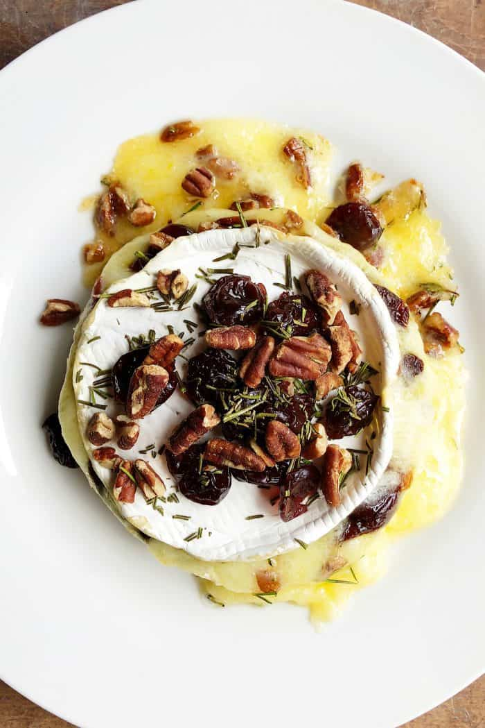 Baked Cherries Pecan Brie Recipe