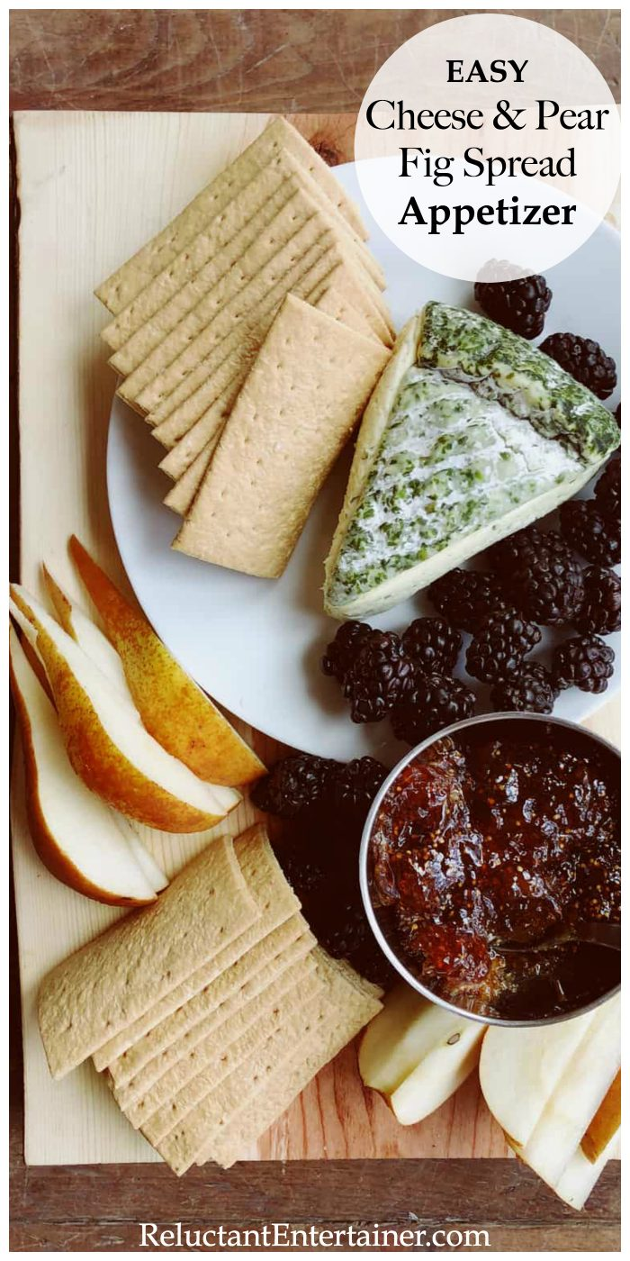 Easy Cheese Pear Fig Spread Appetizer Recipe