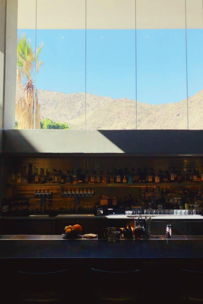 Bar View Kimpton Rowan Hotel Palm Springs CA