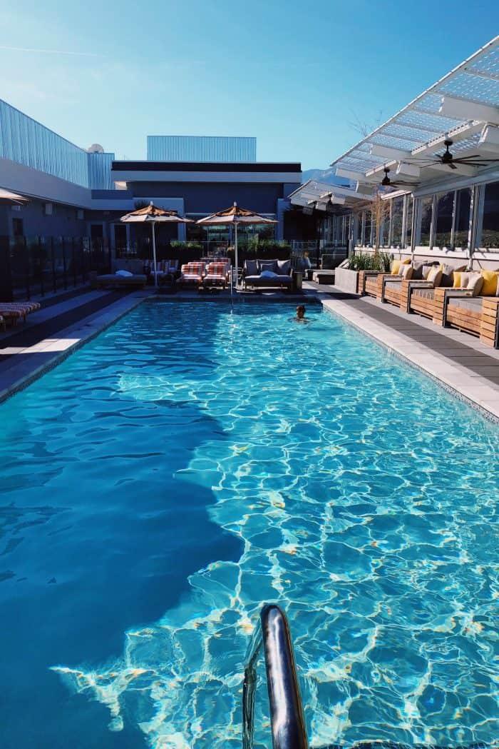 Swimming Kimpton Rowan Hotel Palm Springs CA
