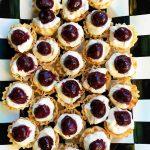 tray of Lemon Cream Cherry Phyllo Tartlets