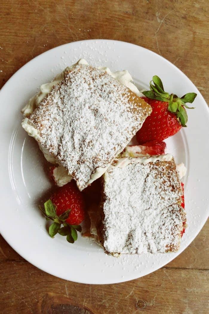 EASY Tangerine Poppy Seed Cake With Strawberries