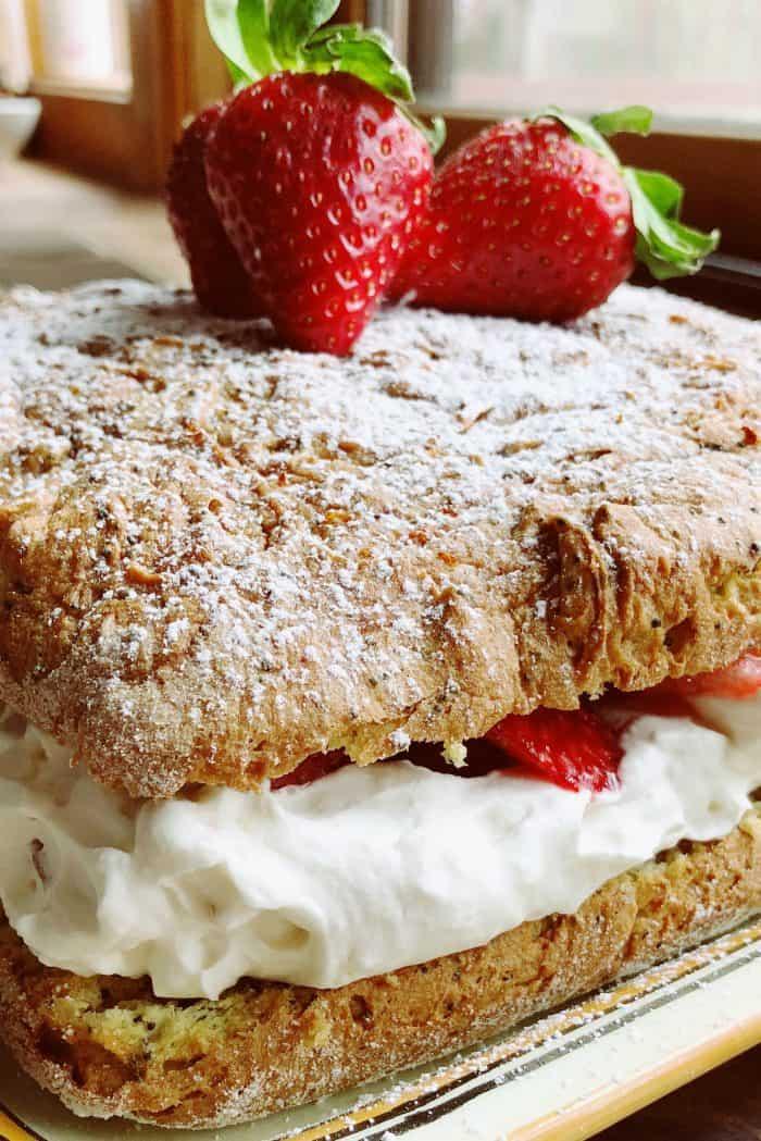 Tangerine Poppy Seed Cake With BEST Strawberries