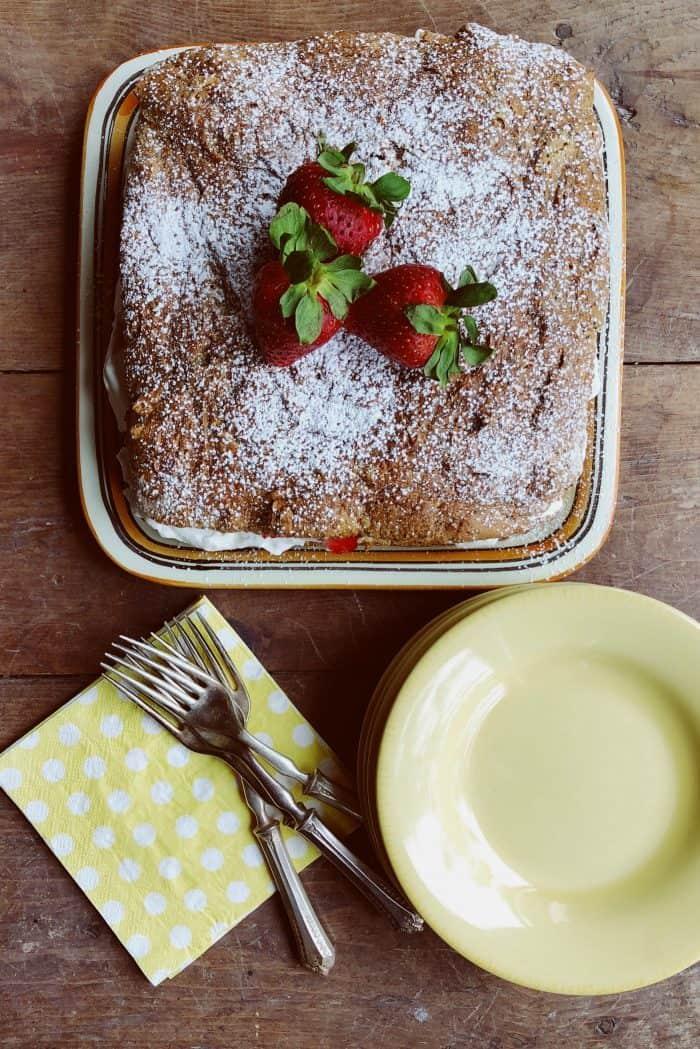 Tasty Tangerine Poppy Seed Cake With Strawberries