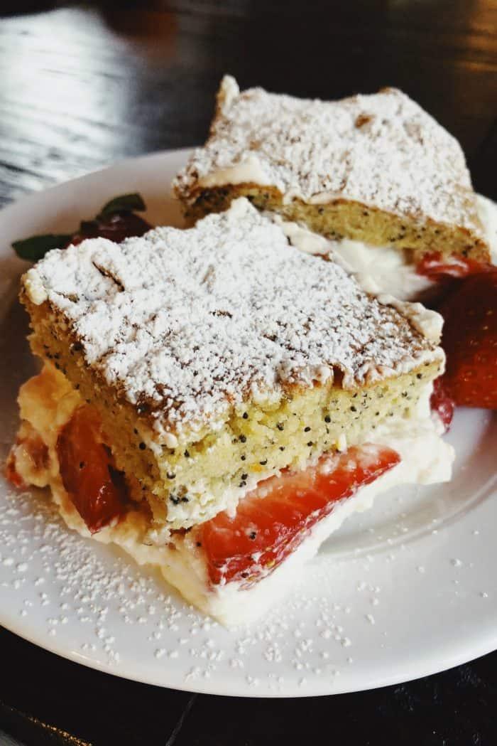 Brunch Tangerine Poppy Seed Cake With Strawberries