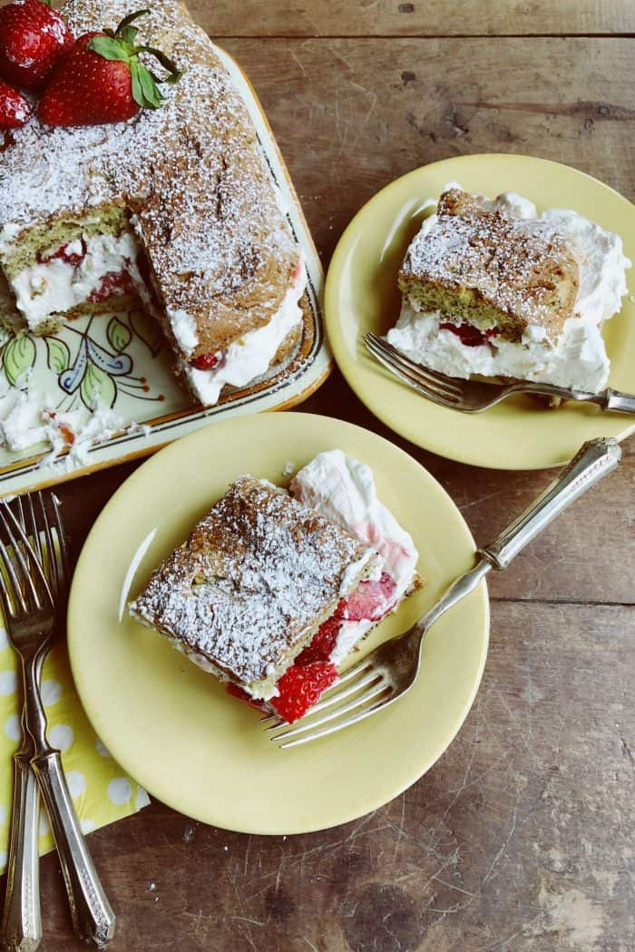 BEST Tangerine Poppy Seed Cake With Strawberries