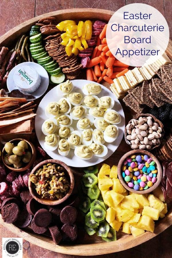 a beautiful Easter Charcuterie Board Appetizer