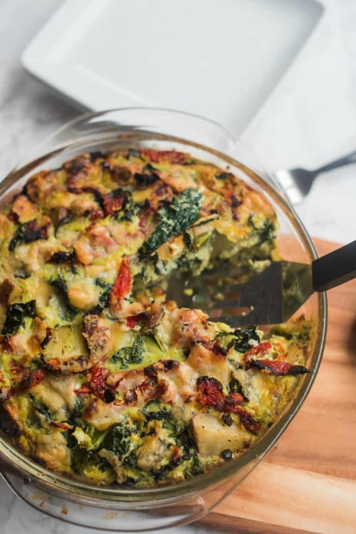 Easy Frittata Recipe with Pesto