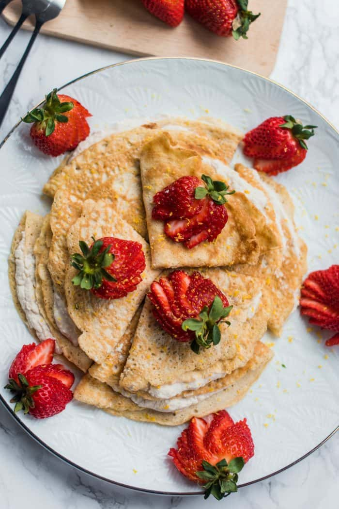 Best Gluten-Free Coconut Strawberry Crepes Recipe