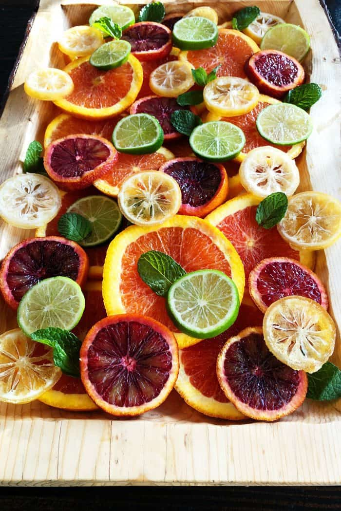 Layered Fresh Citrus Salad with Mint Recipe