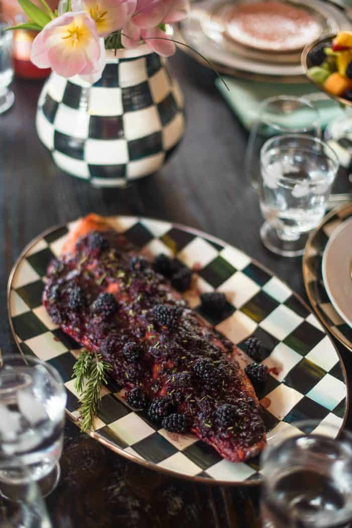 Oven Baked Salmon with Blackberry Barbecue Sauce Recipe