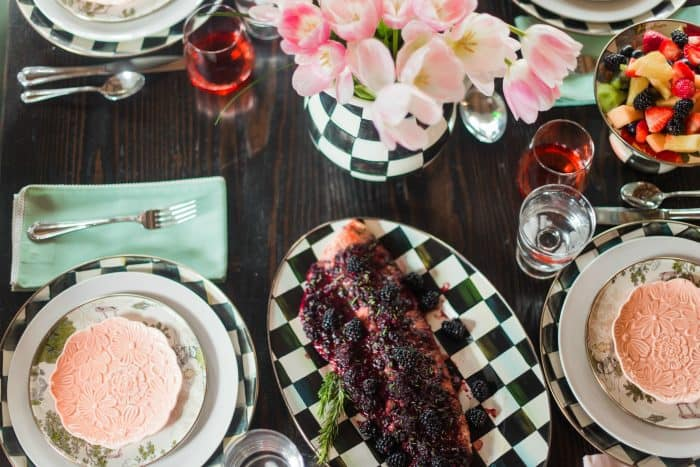 Delicious Oven Baked Salmon with Blackberry Barbecue Sauce