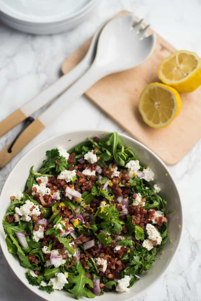 Parsley Pancetta Arugula Salad Recipe