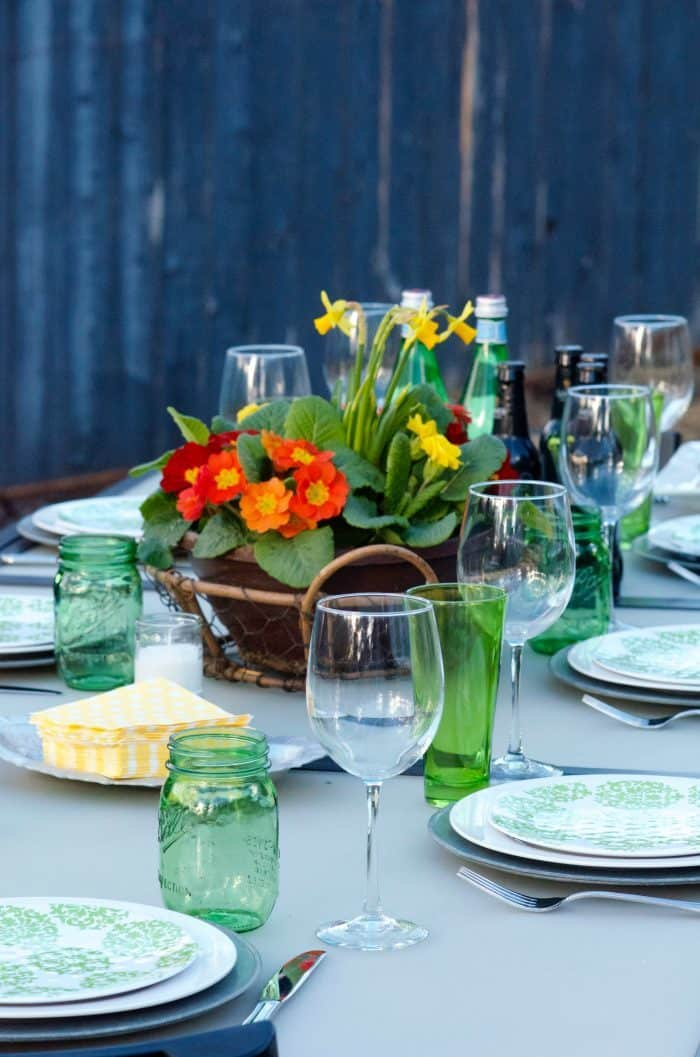 St. Patrick's Day Table Setting