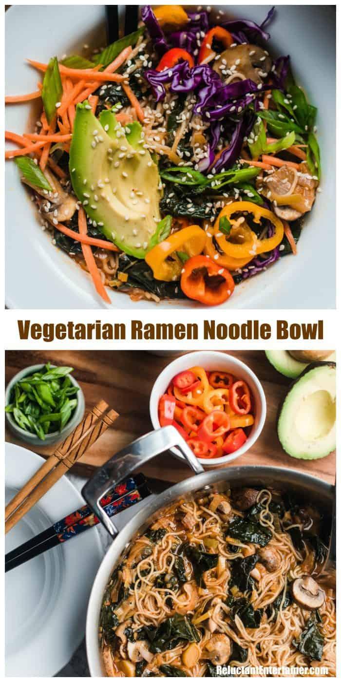 Very Best Vegetarian Ramen Noodle Bowl