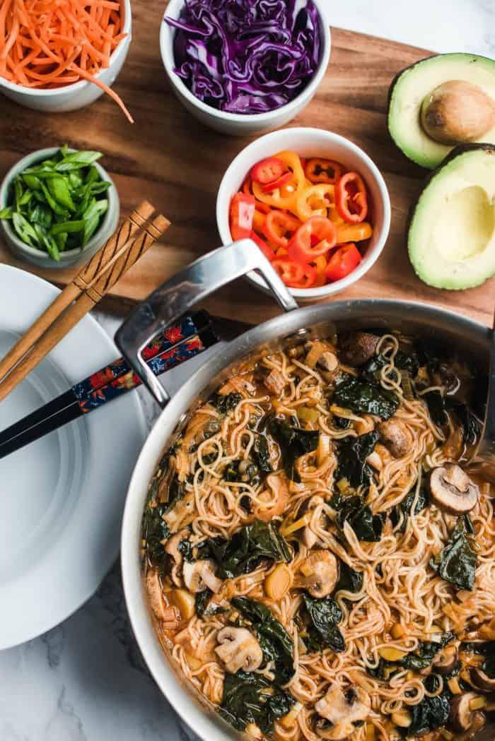 Vegetarian Ramen Noodle Bowl Recipe