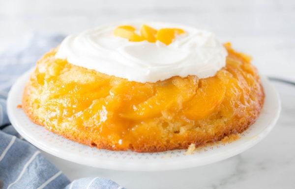 beautiful peach cake