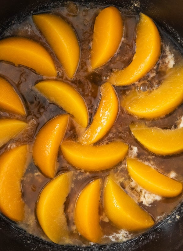 peaches and brown sugar and butter