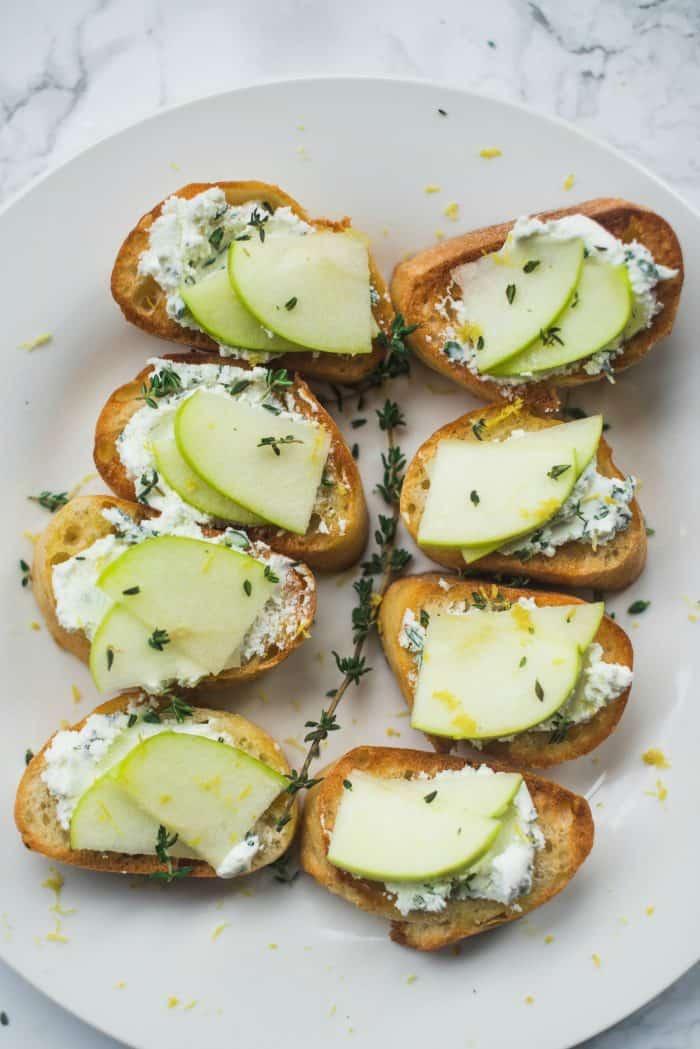Best Apple Goat Cheese Crostini Appetizer