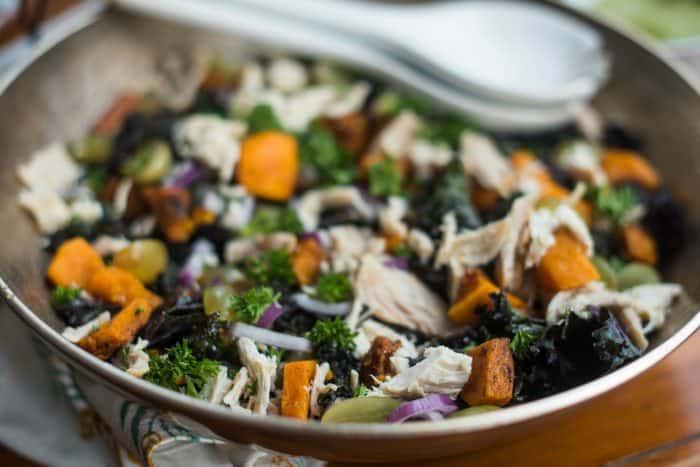 Very easy Chicken Kale Salad Recipe