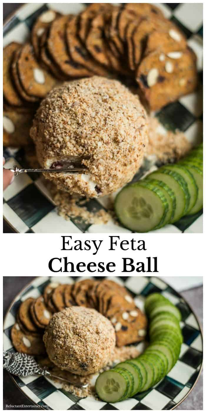 Easy Feta Cheese Ball from The Pretty Dish