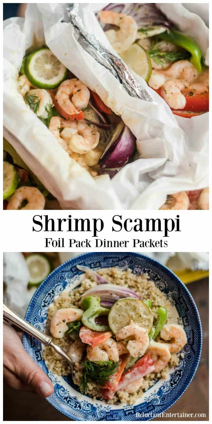 Very Best Shrimp Scampi Foil Pack Dinner Packets