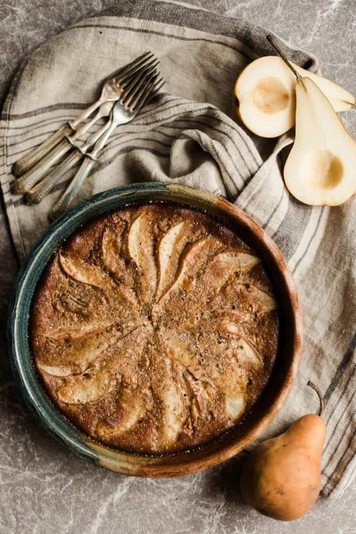 Honey Ginger Pear Custard Pie