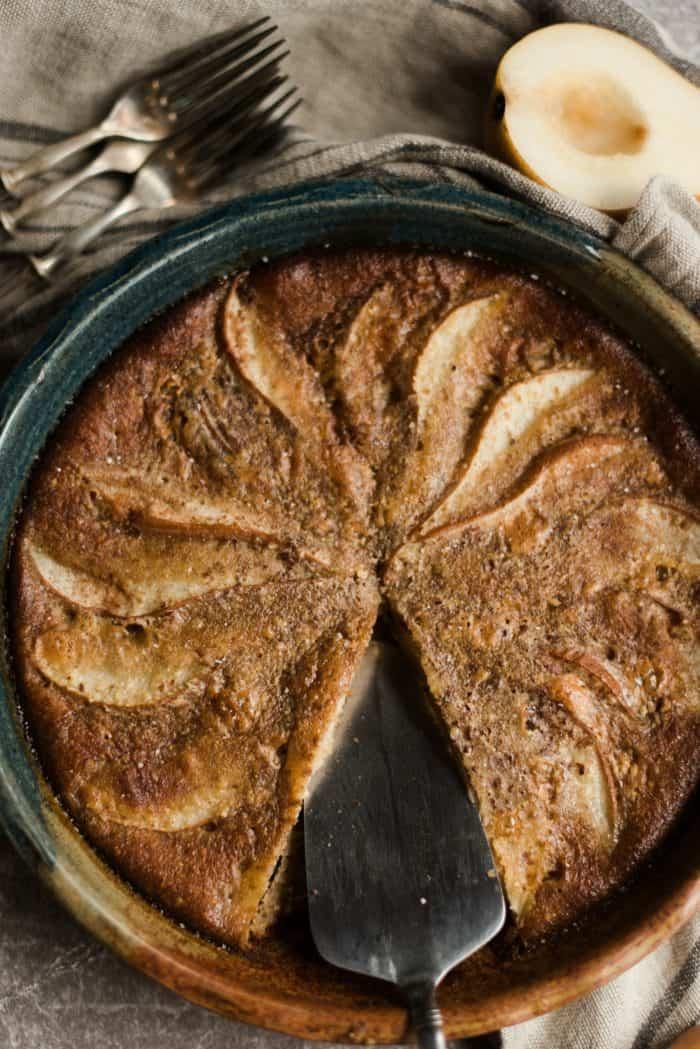 Honey Ginger Pear Custard Pie Recipe