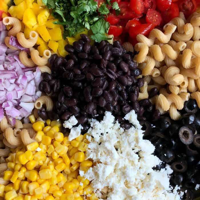 Mexican Pasta Salad Recipe ingredients
