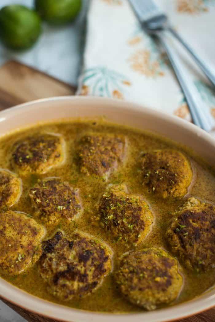 Easy Spicy Coconut Curry Turkey Meatball Recipe