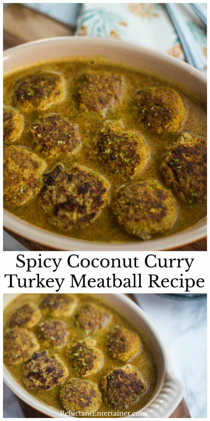 The BEST Spicy Coconut Curry Turkey Meatball Recipe