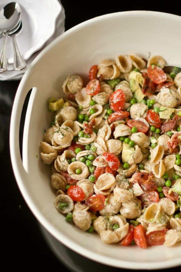 a BLT pasta salad