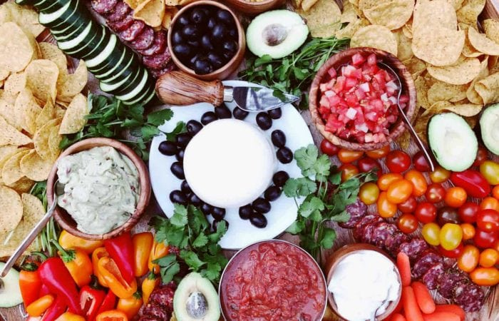 mexican charcuterie platter