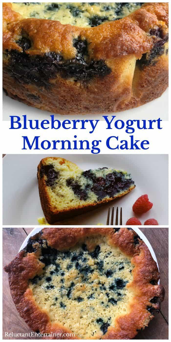 Delicious Blueberry Yogurt Morning Cake