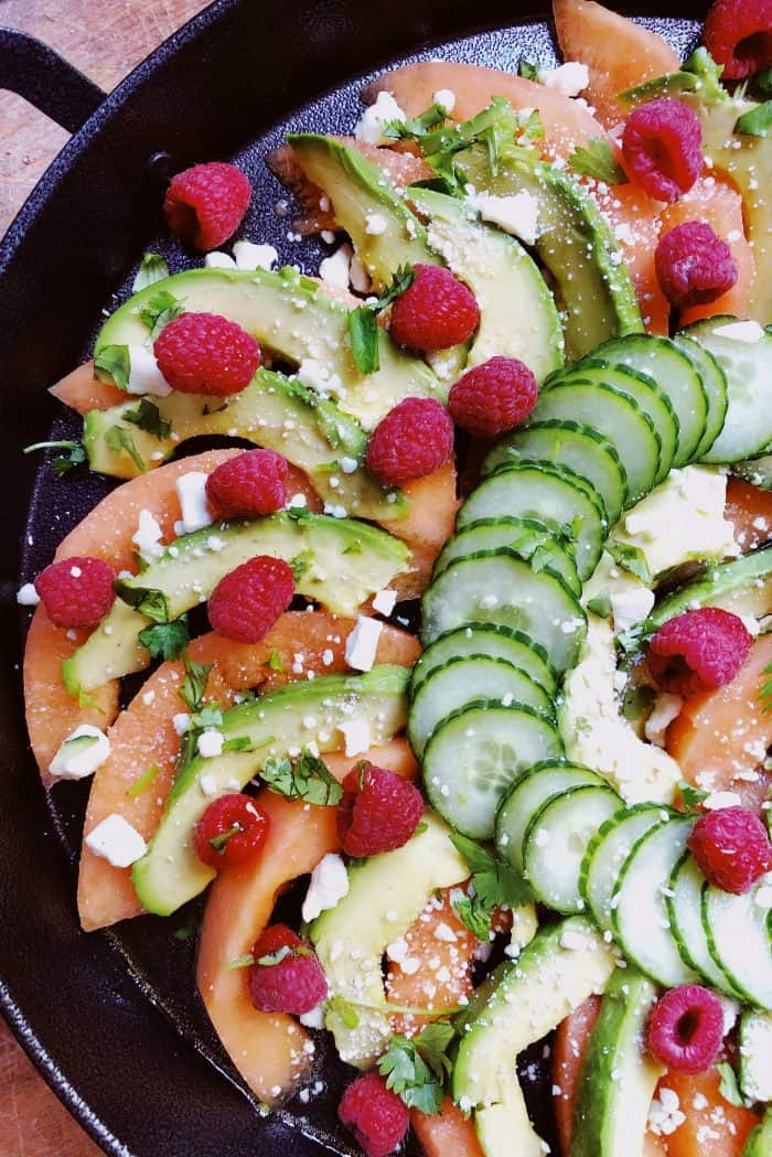 Cantaloupe Avocado Raspberry Salad Recipe