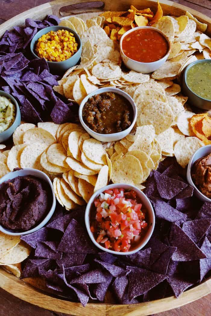 Easy EPIC Chips and Salsa Board