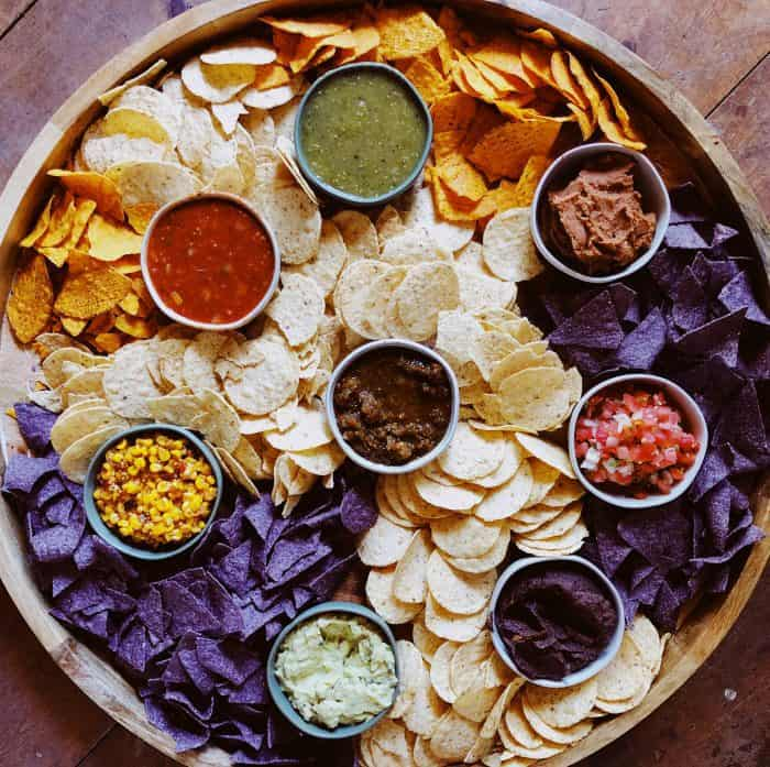 Best ever EPIC Chips and Salsa Board