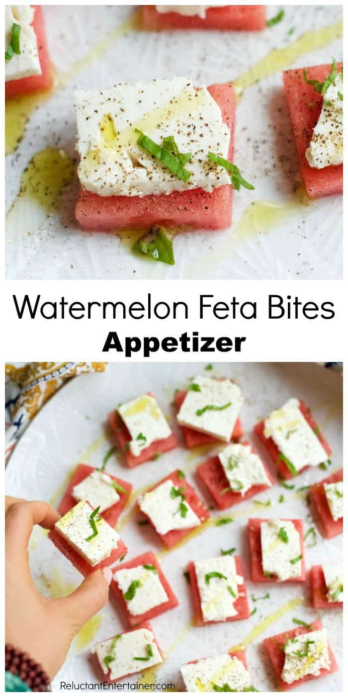 Delicious Watermelon Feta Bites Appetizer
