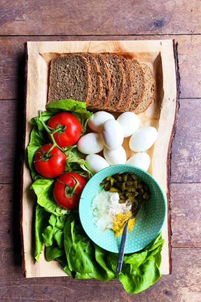 Egg Salad Sandwich Recipe Ingredients