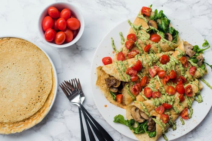 Pesto Mushroom Crepe Recipe