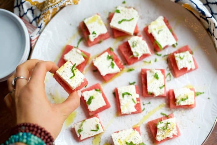 Best Watermelon Feta Bites Appetizer