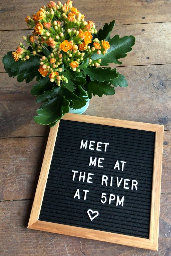 Meet me at the river at 5PM