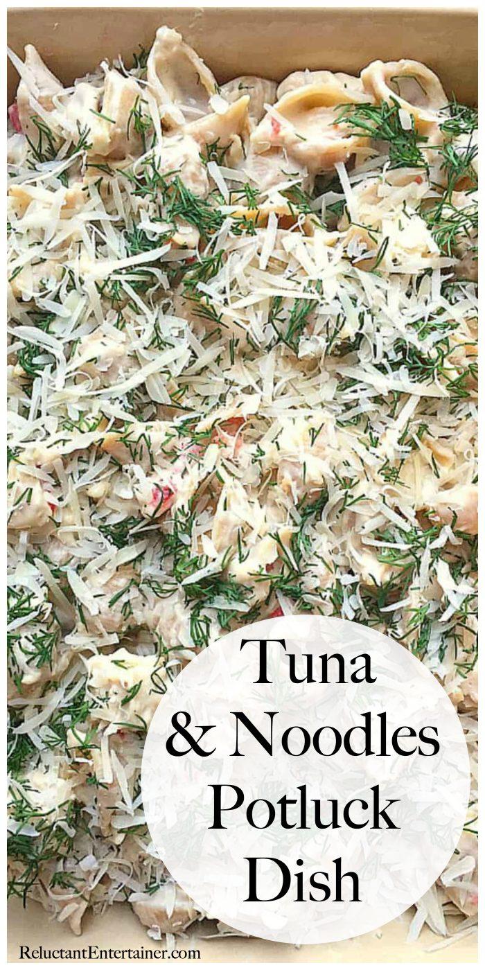 Tuna and Noodles Potuck Dish