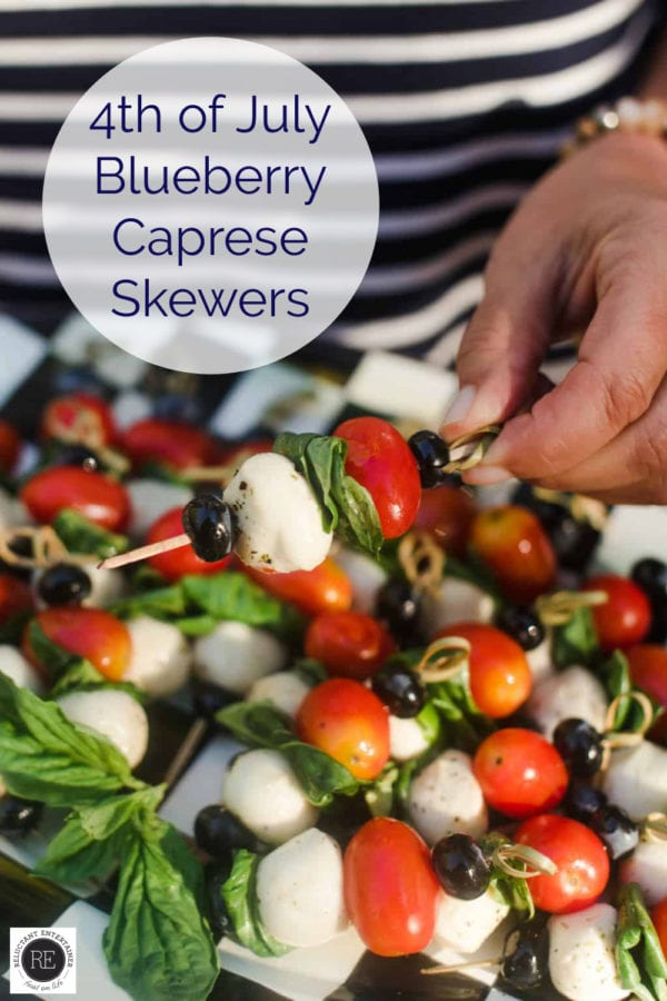 4th of July bluberry skewers