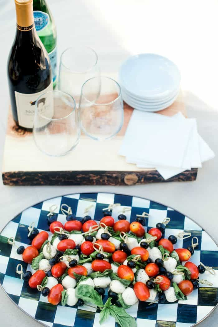 Festive 4th of July Blueberry Caprese Skewers