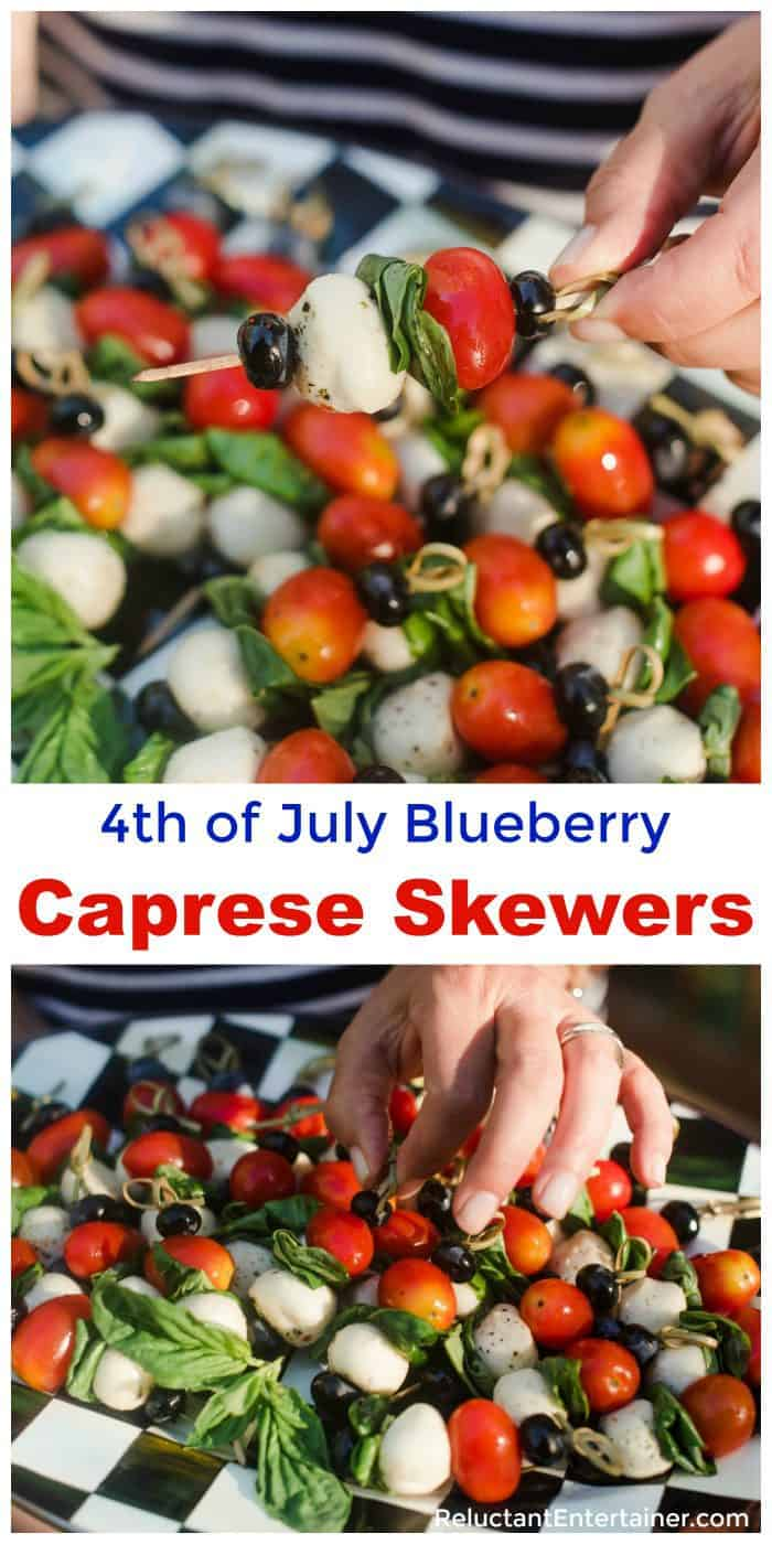 4th of July Blueberry Caprese Skewers Recipe
