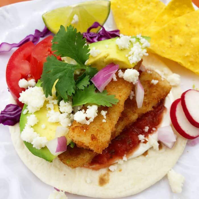 Best Crunchy Breaded Fish Sticks Taco