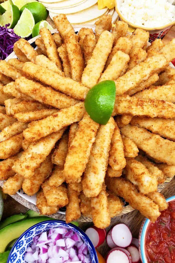 Crunchy Breaded Fish Sticks
